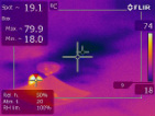 moisture found with infrared camera
