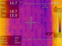 water infiltration detected with infrared camera